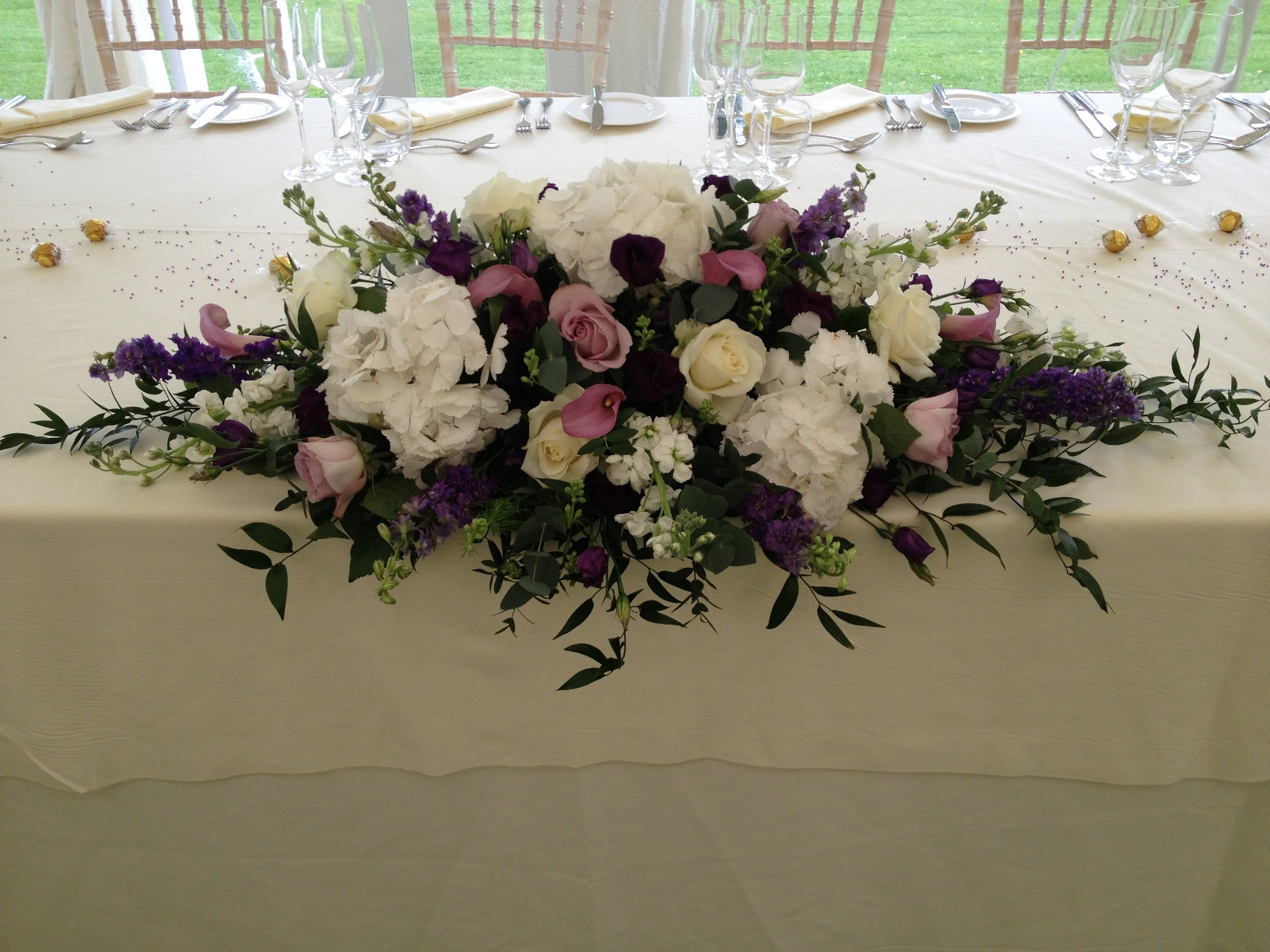 Wedding flowers table centres the flower house for Table arrangements