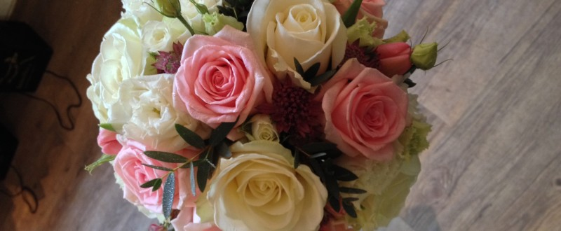 Vibrant white and pink bouquet